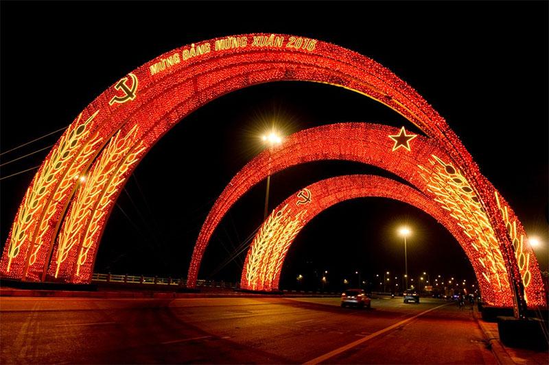 Cổng chào công nghệ Đèn Led