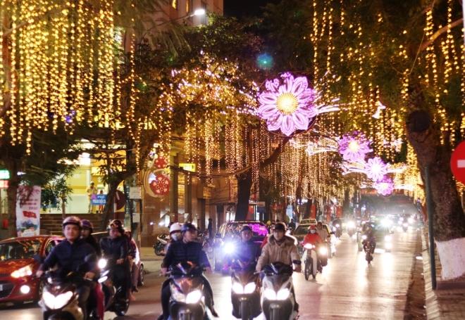 Hoa Led trang trí đường phố