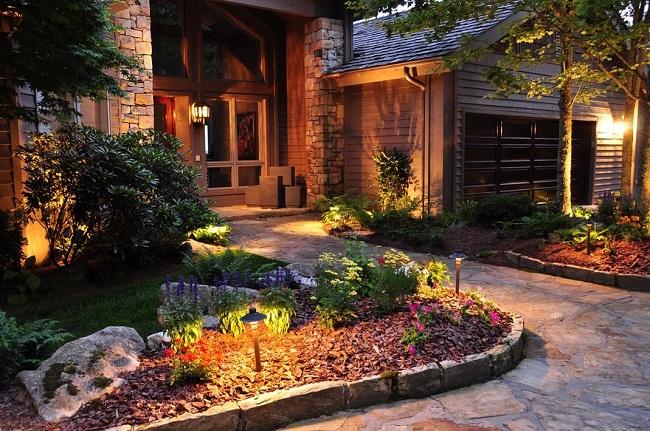 Led trang trí sân vườn