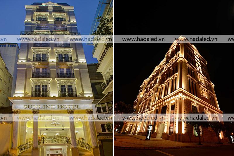 Chiếu sáng mặt dựng toà nhà