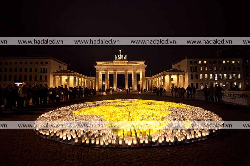 Đèn Led chiếu sáng kiến trúc cổng