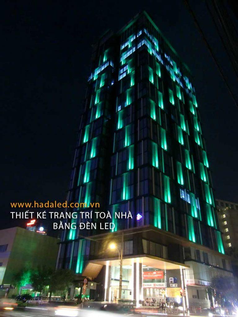 Thiết kế trang trí toà nhà bằng đèn Led