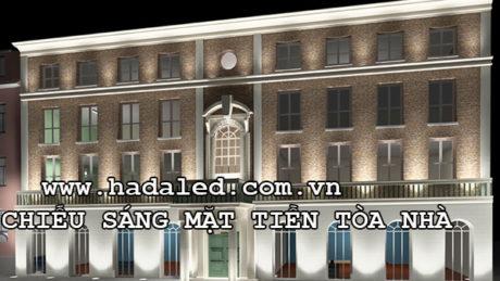chiếu sáng mặt tiền tòa nhàchiếu sáng mặt tiền tòa nhà