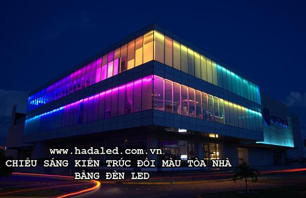 Chiếu sáng kiến trúc đổi màu tòa nhà bằng đèn ledChiếu sáng kiến trúc đổi màu tòa nhà bằng đèn led