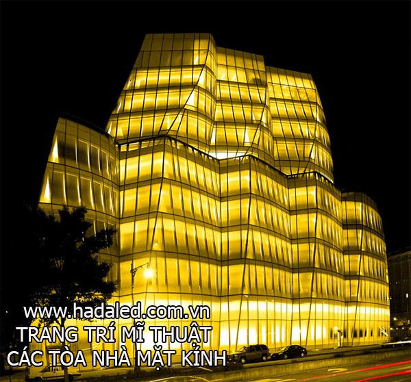 trang trí mĩ thuật các tòa nhà mặt kính