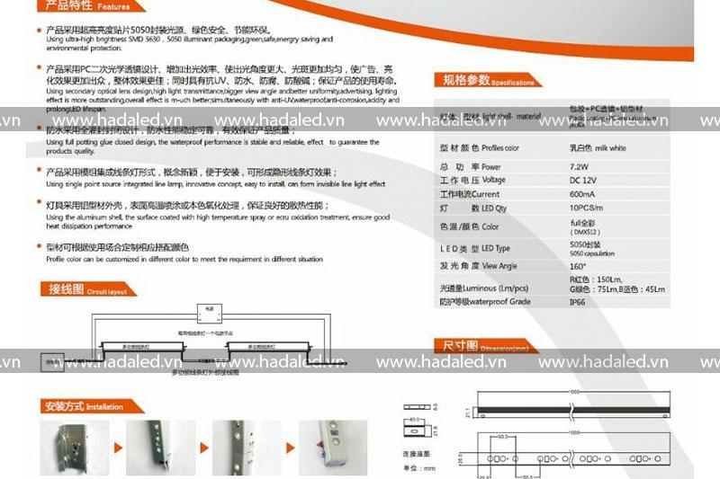 Led thanh HHX trang trí toà nhà