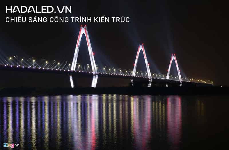 Chiếu sáng kiến trúc cầu Nhật Tân