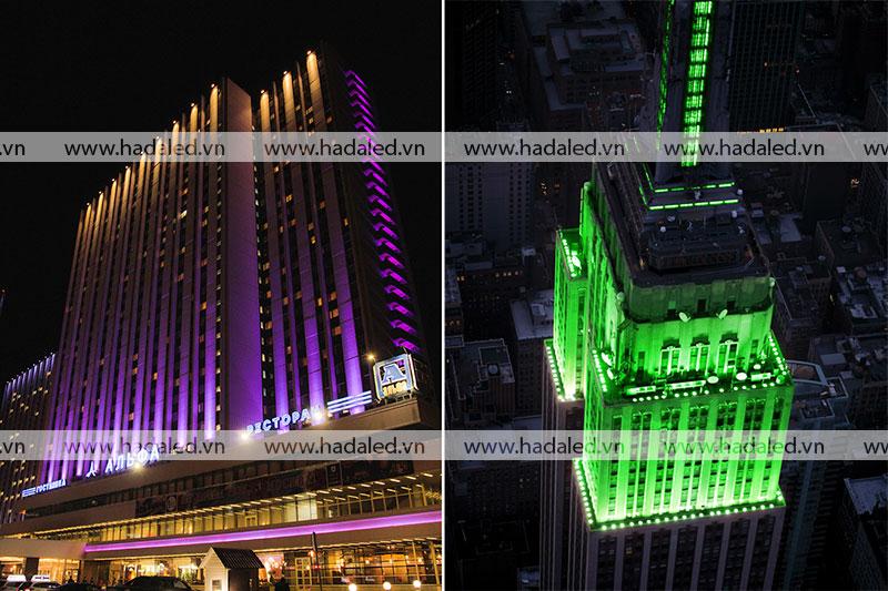 Chiếu sáng mặt tiền toà nhà