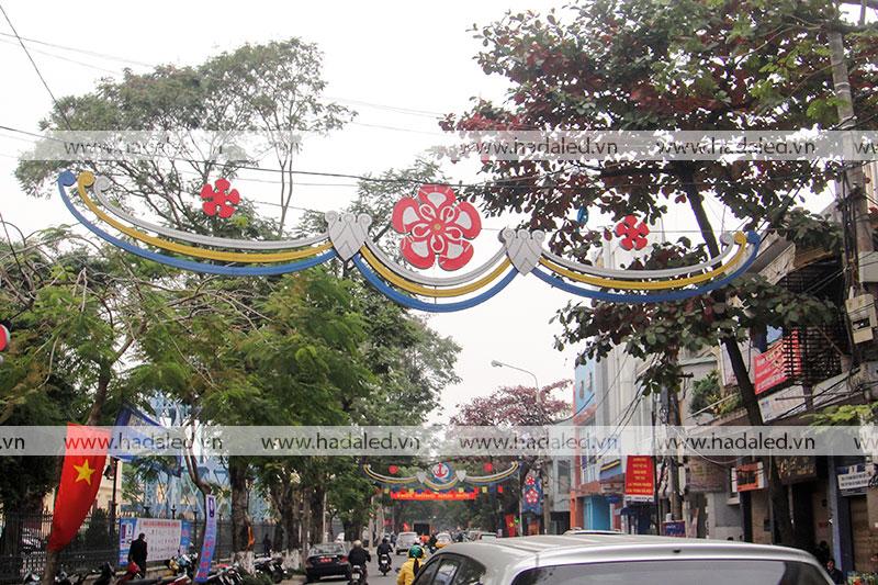 Hoa led trang trang trí đường phố