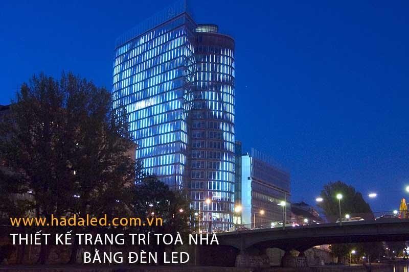 Đèn Led trang trí mĩ thuật toà nhà