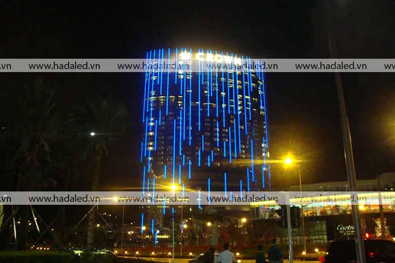 Trang trí kiến trúc toà nhà bằng đèn Led