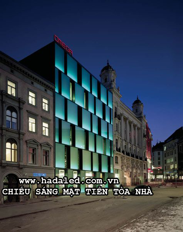 Chiếu sáng mặt tiền tòa nhà