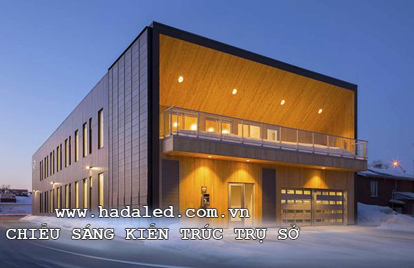 chiếu sáng kiến trúc trụ sở