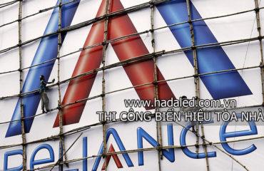 Thi công biển hiệu tòa nhà