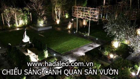 chiếu sáng cảnh quan sân vườn